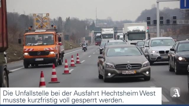 Schwerer Unfall auf der A60 bei Hechtsheim