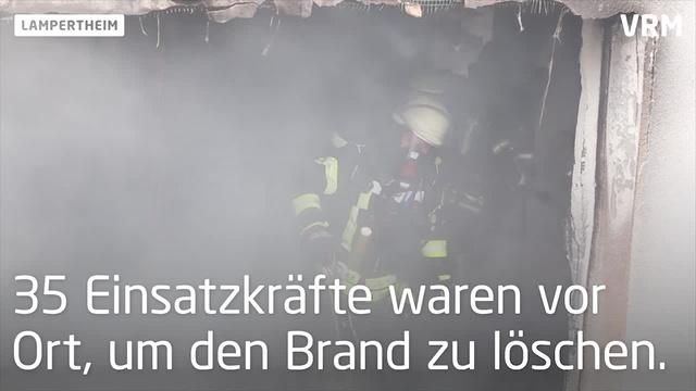 Lampertheim: Kellerbrand in Schwalbenstraße