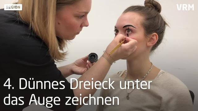 Fastnachts-Make-Up in sieben Minuten: Clown