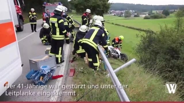 Motorradunfall bei Taunusstein: Fahrer schwer verletzt