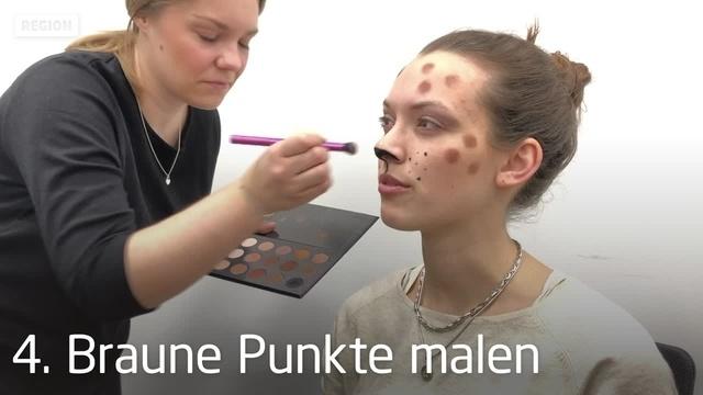 Fastnachts-Make-Up in sieben Minuten: Leopard