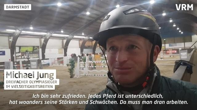 Olympiasieger Michael Jung reitet bei Turnier in Darmstadt