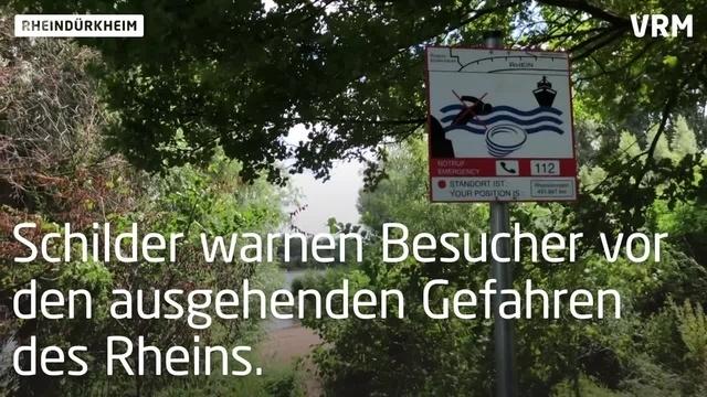 Gefahren am Rhein bei Worms-Rheindürkheim