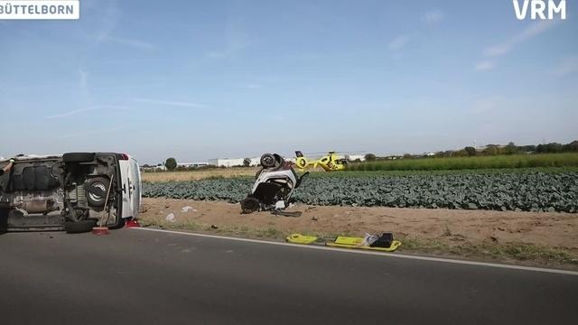 Zwei Schwerverletzte bei Unfall auf L3303