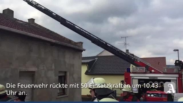 Bingen-Sponsheim: Brand in der Römerstraße