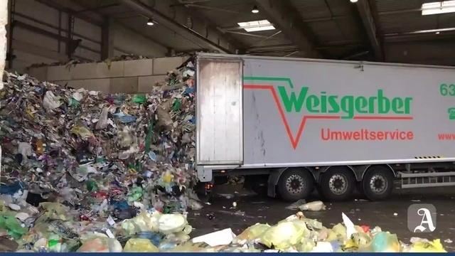 Der Weg des Mülls: Von Mainz über Gernsheim nach Berlin