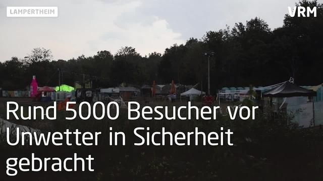 Tanz der Bässe in Lampertheim: Abbruch wegen Unwetter