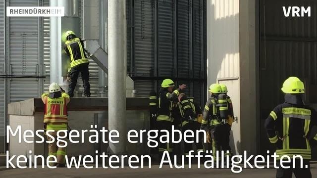 Feuerwehreinsatz in Rheindürkheim