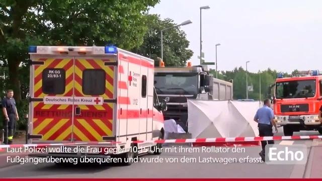 17.08.2017: Frau in Gernsheim von LKW erfasst