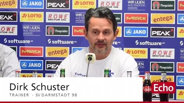 Lilien-Trainer Dirk Schuster zum nächsten Spiel in Dresden