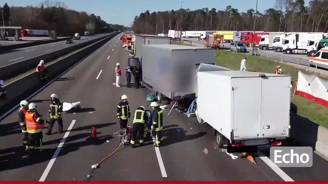 Unfall auf der A67 bei Lorsch