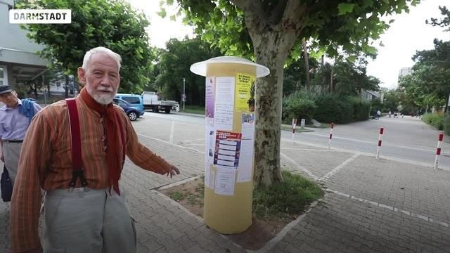 Litfaßsäule für mehr Miteinander in Darmstadt-Eberstadt