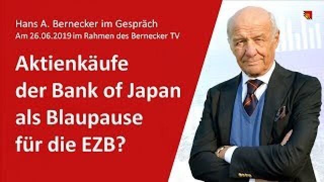 Aktienkäufe der Bank of Japan als Blaupause für die EZB?