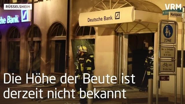 Geldausgabeautomat in Rüsselsheim gesprengt