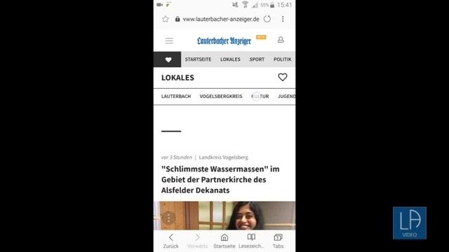 Die neue Homepage des Lauterbacher Anzeigers