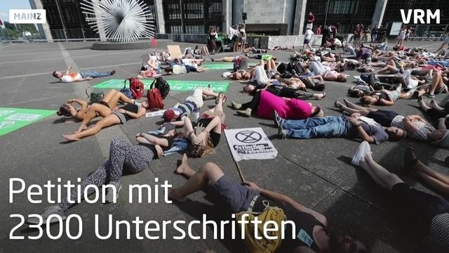 Fridays for Future Kundgebung vor Mainzer Rathaus