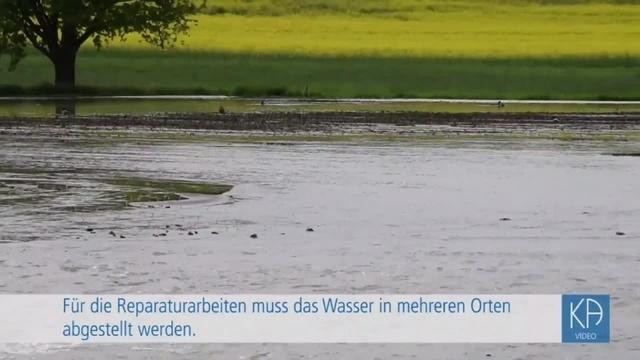 Beschädigte Fernwasserleitung bei Dauernheim
