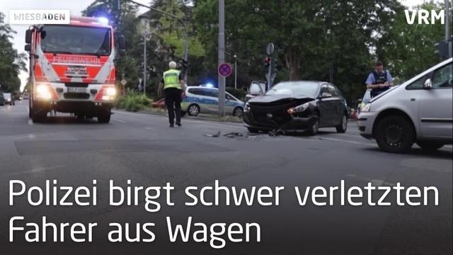Drei Verletzte bei Unfall in Wiesbaden