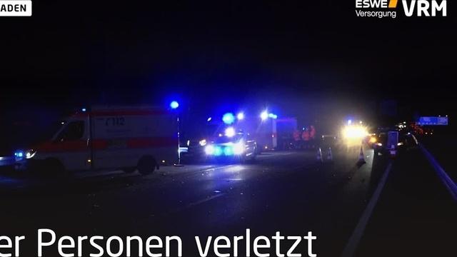 Unfallflucht nach Unfall auf der A66 bei Wiesbaden