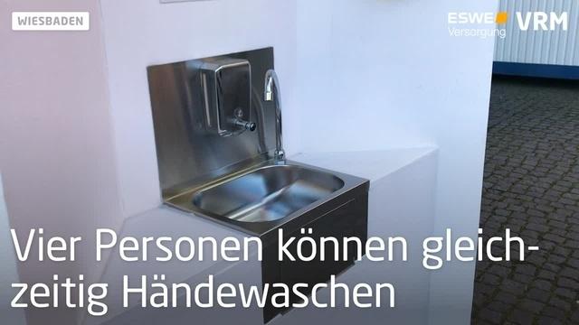 Eine Waschstation für Wiesbaden