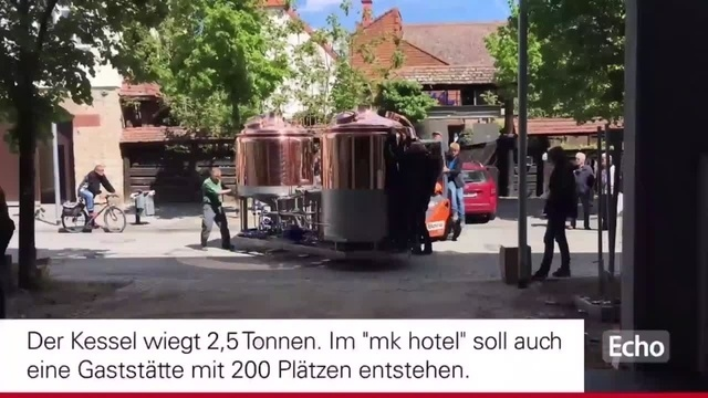 Neuer Braukessel in Rüsselsheim