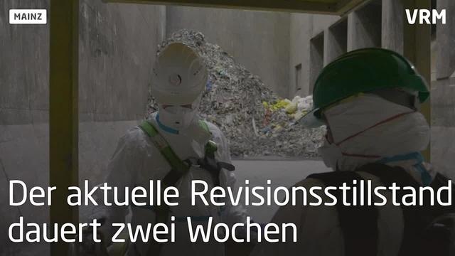 Wartungsarbeiten im Müllheizkraftwerk Mainz
