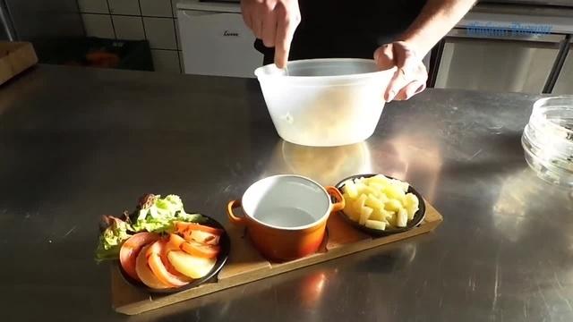 Rezept für einen Handkäs-Apfel-Salat