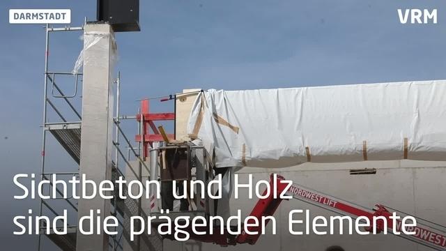 Der Bau des Nordbads in Darmstadt schreitet voran
