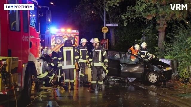 Lampertheim: Schwerer Unfall auf B44 am Samstagabend