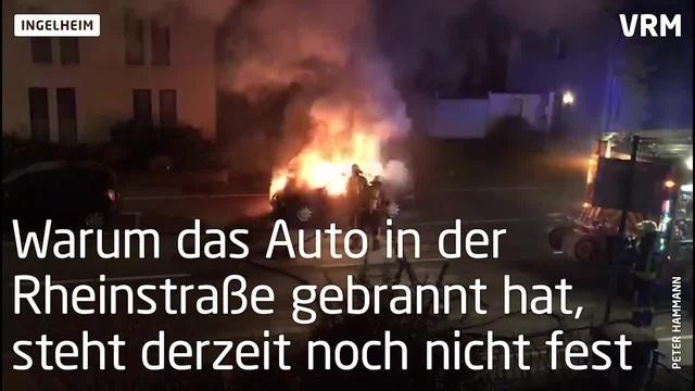 Pkw in Ingelheim komplett ausgebrannt