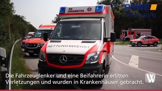 Drei Verletzte nach Unfall in Wiesbaden