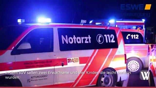 B417: Frontalzusammenstoß zwischen Wiesbaden und Taunusstein