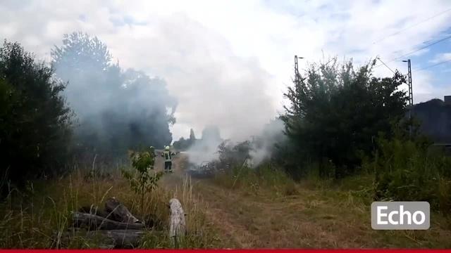 Mehrere Brände entlang der Bahnstrecke bei Babenhausen