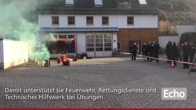 Übung von Pyrotechnik Kreis Bergstraße