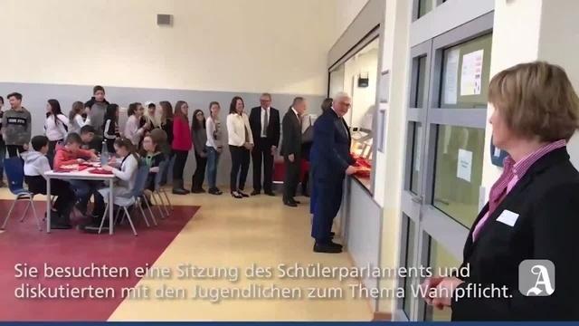Wörrstadt: Der Bundespräsident in der Schülermensa