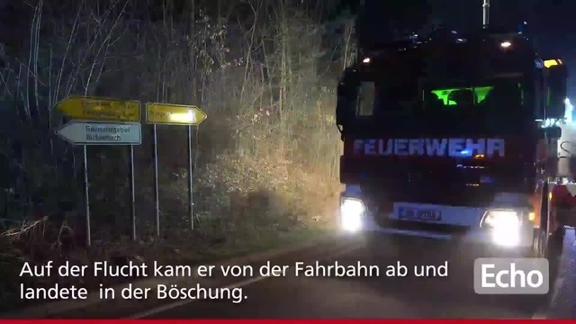 Auto-Verfolgungsjagd in Bickenbach