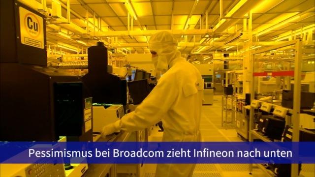 Aktie im Fokus: Broadcom-Pessimismus zieht Infineon abwärts