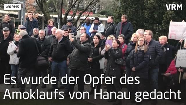 Mahnwache und Demo gegen Rassismus in Worms