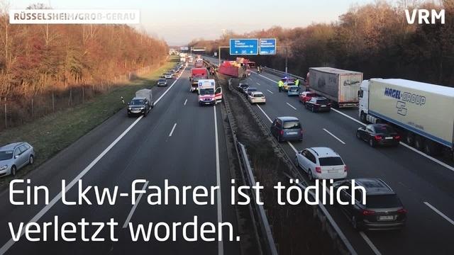 Schwerer Lkw-Unfall auf A67