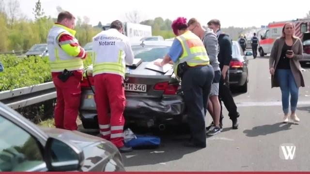 Wiesbaden: Auffahrunfall auf der A3 bei Breckenheim