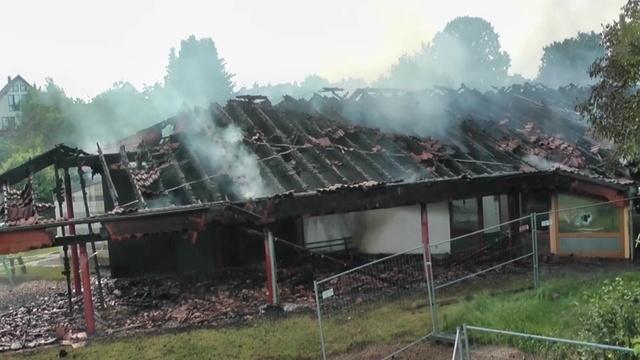 Feuer zerstört Kindergarten in Heuchelheim