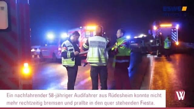 Verkehrsunfall auf der A66 bei Wiesbaden