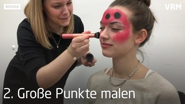 Fastnachts-Make-Up in sieben Minuten: Marienkäfer