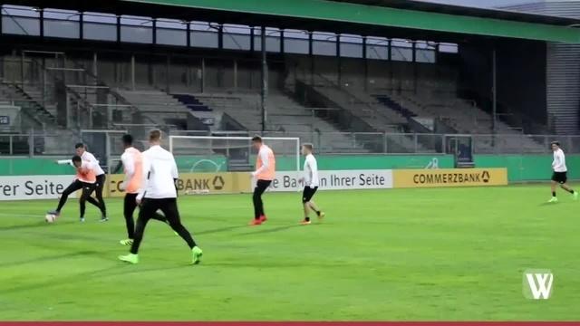Training der U21-Fußballnationalmannschaft in Wiesbaden