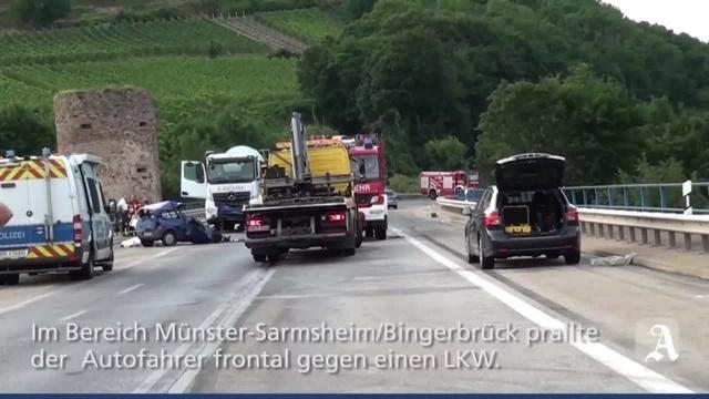Tödlicher Verkehrsunfall auf B9 bei Bingen-Büdesheim