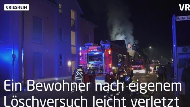 Griesheim: Haus nach Brand unbewohnbar