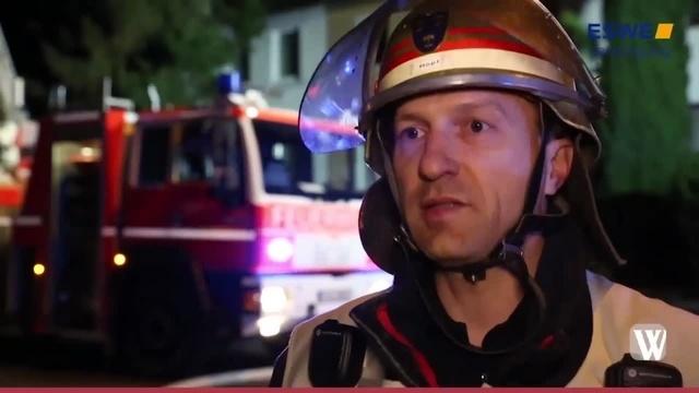 Wiesbaden: Dachstuhlbrand in der Erich-Ollenhauer-Straße in Dotzheim