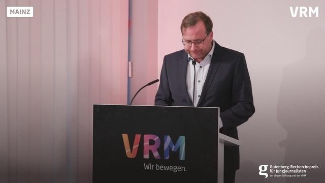 Gutenberg Recherchepreis 2020 Keynote von Tanjev Schult