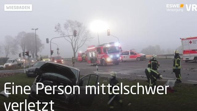Unfall im Feierabendverkehr in Wiesbaden