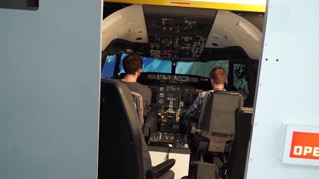 Notlandung im Flugsimulator